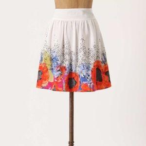 Leifsdottir Scattered Heartsease Silk Skirt